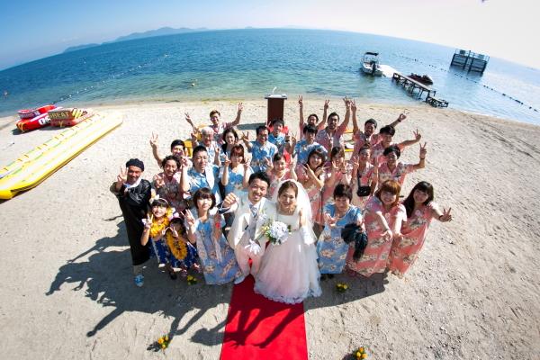 琵琶湖バーベキューウェディング015