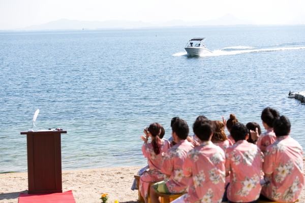 琵琶湖バーベキューウェディング007