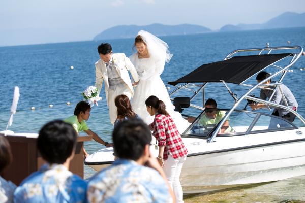 琵琶湖バーベキューウェディング009
